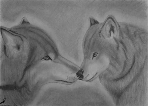 imagenes a lapiz de lobos pareja de lobos nuevo dibujo taringa