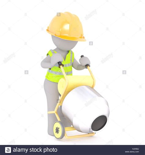 stock illustration of 3d man with safety equipment on figure of faceless 3d man construction worker in hardhat