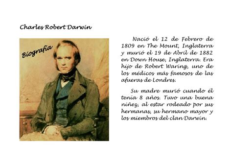 biografia charles darwin - Charles Darwin Biografia Muy Corta