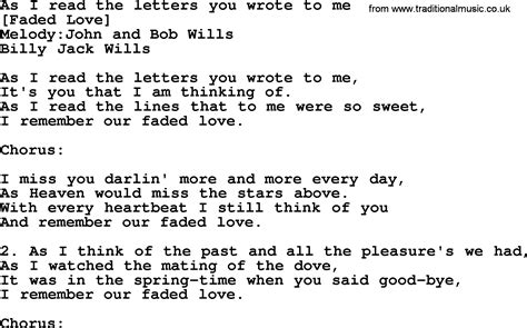 Letter From Me To You Lyrics American Song Lyrics For As I Read The Letters You Wrote To Me With Pdf