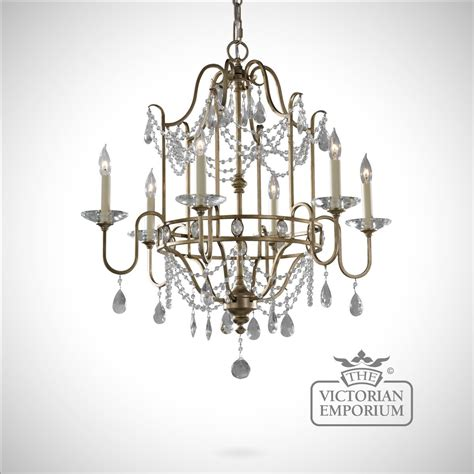 Decorative Chandelier Gilded Silver Decorative 6 Light Chandelier Ceiling Chandeliers
