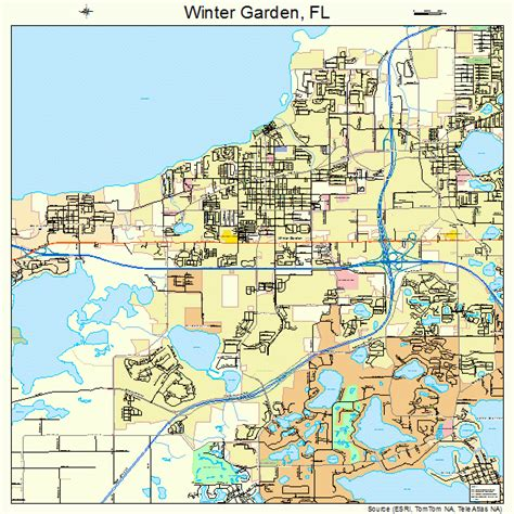 What County Is Winter Garden Fl In by Winter Garden Florida Map 1278250