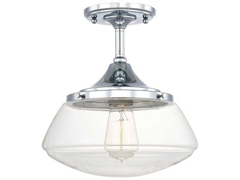 capital lighting 3533bb 134 capital lighting schoolhouse chrome with clear glass 10 5