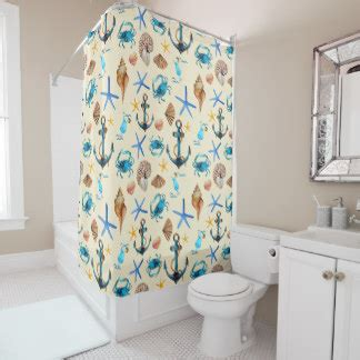 sea themed shower curtains beach theme shower curtains zazzle
