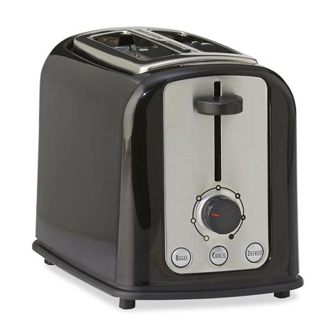 Black And White Toaster Hamilton Brands Inc 2 Slice Cool Touch Toaster
