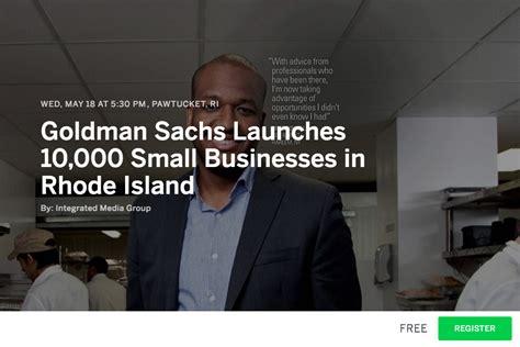 Goldman Sachs Small Business Mba Program by Goldman Sachs 10 000 Small Businesses Artiste