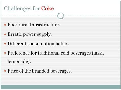 Rural Management Mba Notes by Rural Management Ppt On Coke
