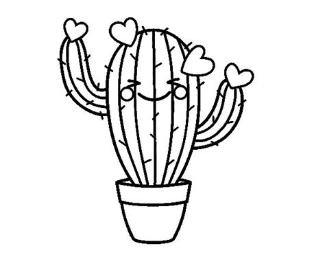 dibujo de cactus con sombrero para colorear dibujo de cactus coraz 243 n para colorear dibujos net