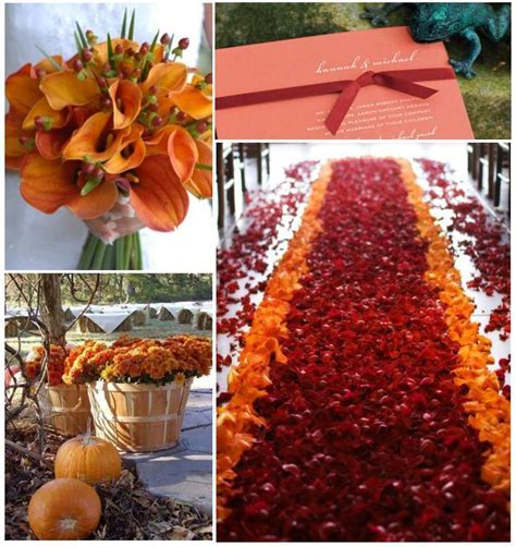 An autumn wedding decoration ? Weddings on the French