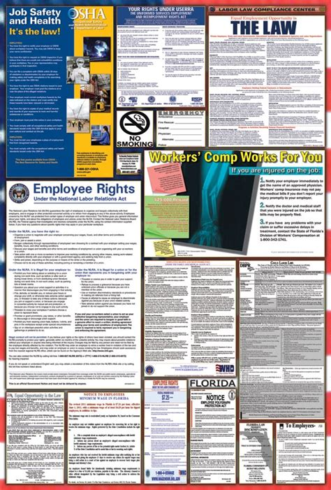 printable federal labor laws poster free florida posters image search results