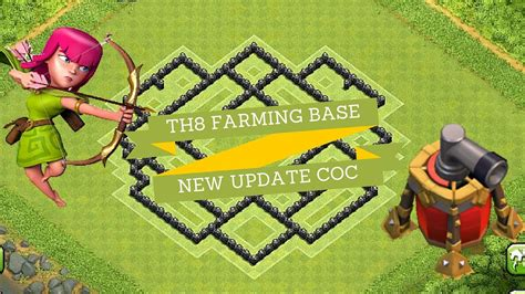 th8 base layout december update clash of clans th8 farming base december 2015 update