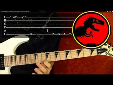 guitar tutorial video games jurassic park theme guitar lesson youtube