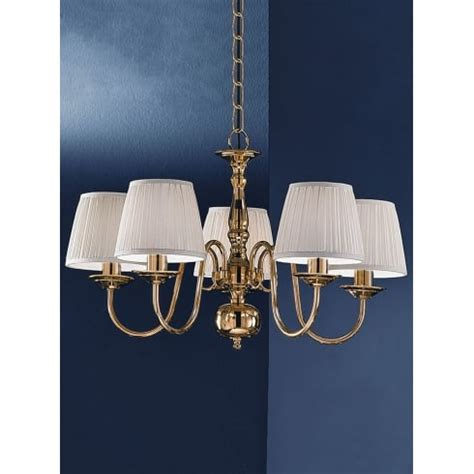 Chandelier Without Lights Franklite Delft 5 Light Chandelier In Polished Cast Brass