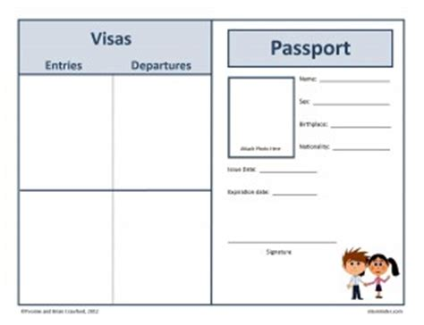 pupil passport template passport to the world mixminder