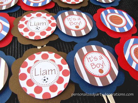baby themed cupcake decorations sport baby shower cupcake toppers