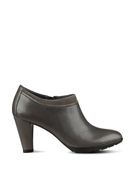 Ankle Leather Booties klein dalayne leather ankle booties in gray lyst