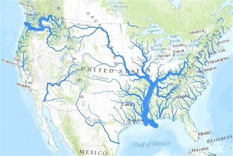 rivers map usa usa river map einfon