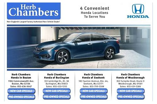 herb chambers honda lease deals