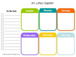 Online Weekly Planner Template 10 Weekly Planner Templates Word Excel Pdf Formats