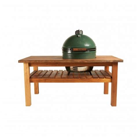 large big green egg mahogany table bundle a bell
