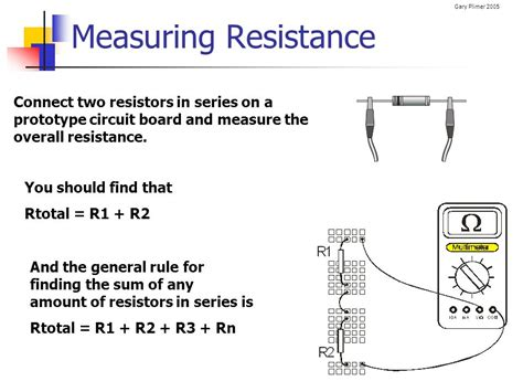 measuring resistors in series electrical circuits electronics ppt