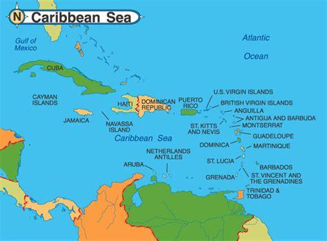 st caribbean map spice travel