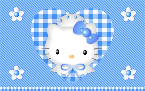 wallpaper hello kitty blue blue heart hello kitty cartoon