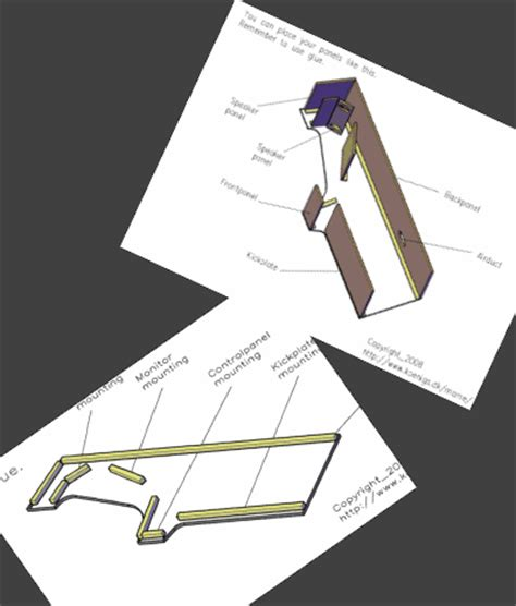 Bartop Cabinet Kit Project Mame Mame Cabinet Autocad And Pdf Drawings And