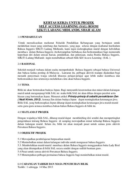 contoh format proposal ringkas kertas kerja untuk projek