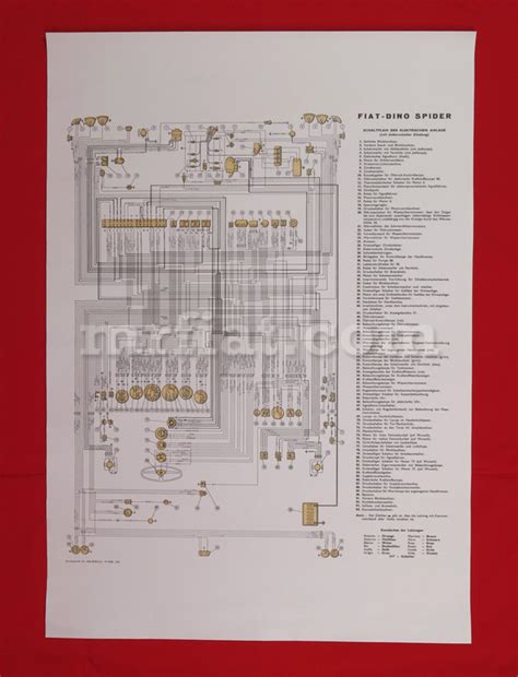 Fiat 500c Wiring Diagram Get Free Image About Wiring Diagram Fiat Dino 2000 Spider Wiring Diagram 59x84 Cm New Ebay