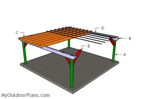 20x20 pergola plans myoutdoorplans free woodworking