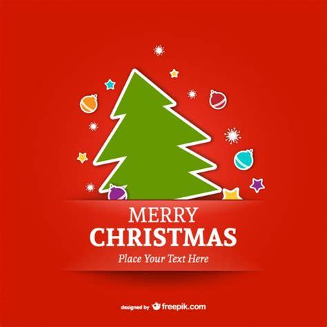merry christmas template  tree vector
