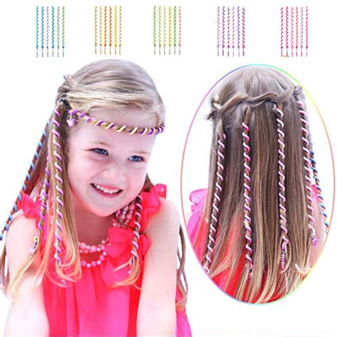 1000 images about hair rollers on pinterest home perm 6pcs kids girls diy hair styling braiding spiral curlers
