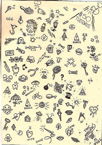 small tattoo flash sue jeiven flash east river i n k
