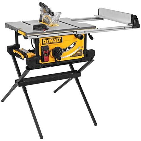 Dewalt Table Saw by Dewalt Dwe7490x Table Saw With Scissor Stand