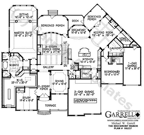 1st floor house plan brickmont manor house plan 06237 1st floor plan traditional style house plans style