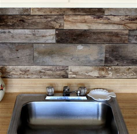 Before After Reclaimed Wood Kitchen Backsplash Design Rustic Kitchen Backsplash