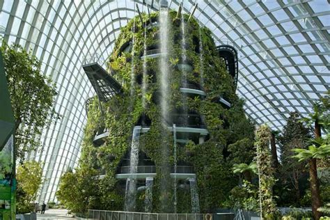 Vertical Gardening Singapore Gardens By The Bay Conservatories Singapore Biomes E