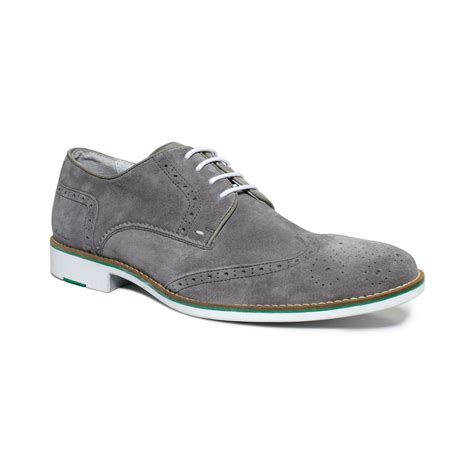 kenneth cole mens sneakers kenneth cole social ladder wingtip lace shoes in gray for