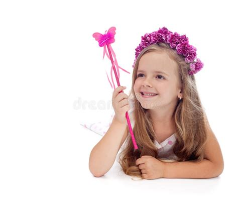Cheerful Fantasia Flowercrown Flower Crown happy with flower crown stock photo image 38478580