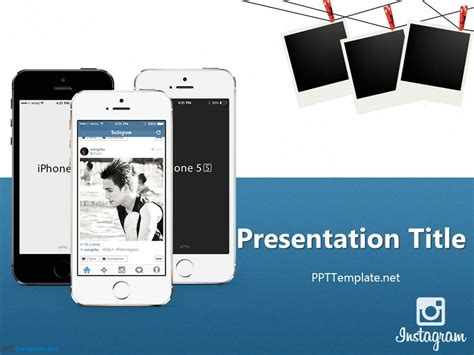 Free Instagram Ppt Template Instagram Template