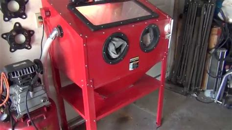 abrasive blast cabinet harbor freight review harbor freight blast cabinet youtube