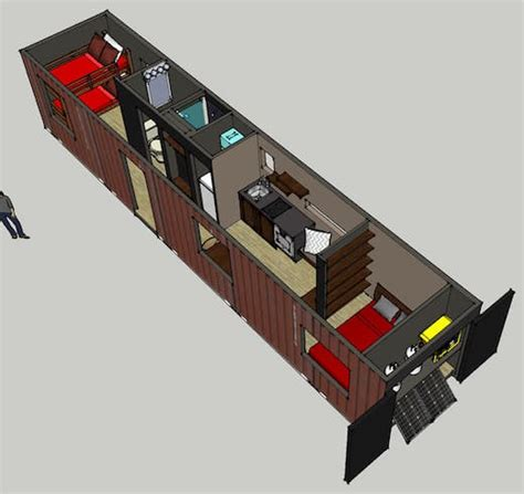 Guest House Floor Plans by Jetson Green Shipping Container Recycled Into A Cozy Home