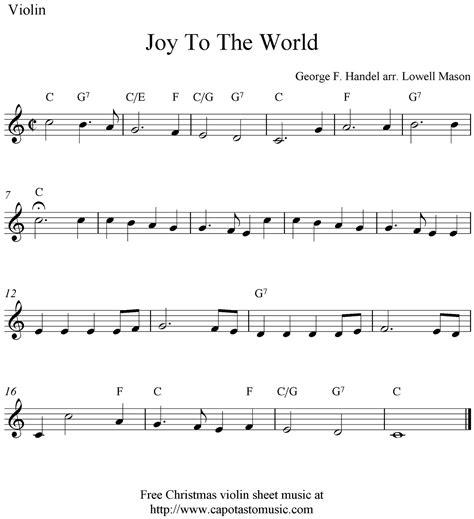 printable christmas violin sheet music free joy to the world free christmas violin sheet music notes