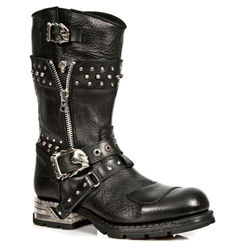rock boots for new rock style m mr022 s1 studded motorock black boots