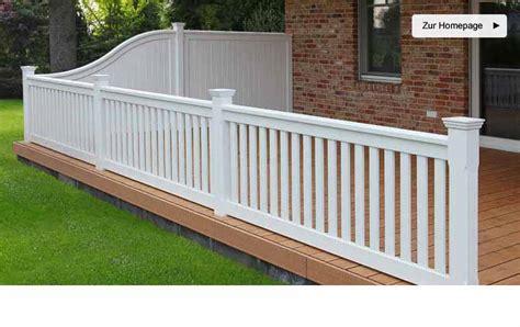 terrasse zaun weiss idee zaun