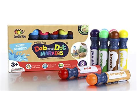dab and dot marker set of 8 washable paint dauber markers dabbers for learning alphabets