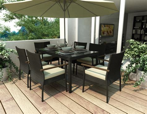 Costco Dining Room Sets sonax textured black 7 piece patio dining set by oj