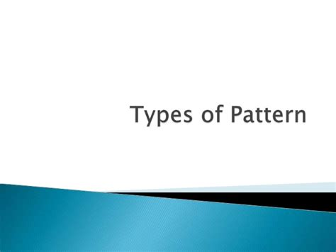 pattern allowances types types of pattern