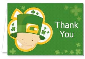 baby shower thank you cards st s baby shamrock thank you notes